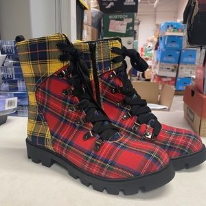 Lust for life freek multi plaid boots
